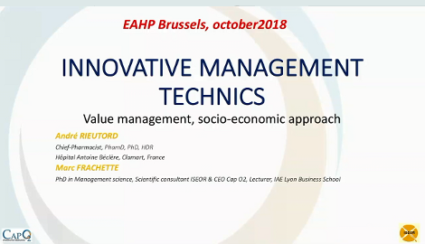 Innovative management technics and open forum