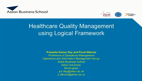 Healthcare quality management using logical framework